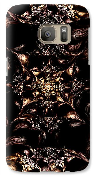 Galaxy Case featuring the digital art Darkness Will Come by Lea Wiggins