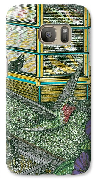 Galaxy Case featuring the painting Darleens Cat by Richie Montgomery