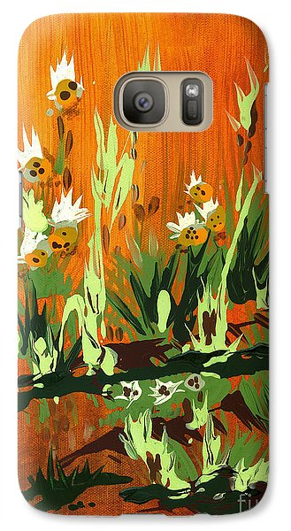 Galaxy Case featuring the painting Darlinettas by Holly Carmichael