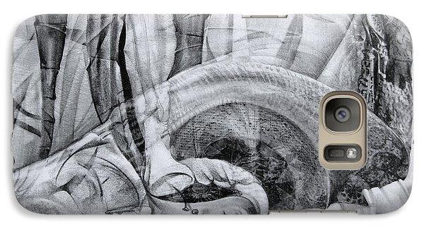 Galaxy Case featuring the drawing Das Monster Hat Sich Im Ungebuegelten Hintergrund Versteckt by Otto Rapp
