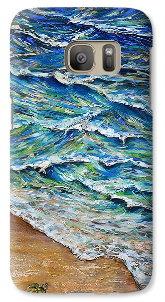 Galaxy Case featuring the painting Dash To The Tide by Linda Olsen
