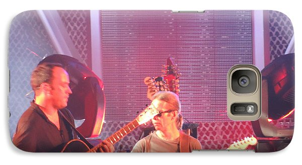 Galaxy Case featuring the photograph Dave And Tim Jam On The Guitar by Aaron Martens