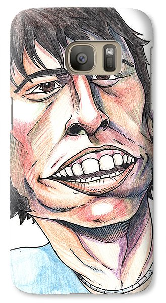 Galaxy Case featuring the drawing Dave Grohl Caricature by John Ashton Golden
