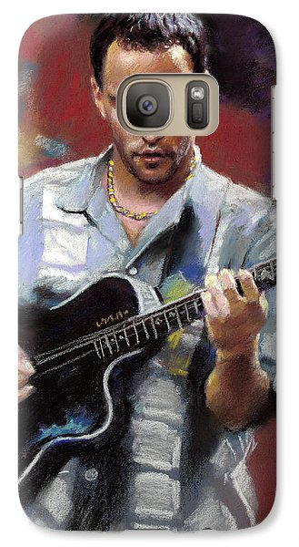 Galaxy Case featuring the drawing Dave Matthews by Viola El