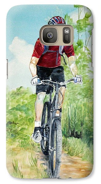 Galaxy Case featuring the painting Dave On The Trail by Ellen Canfield