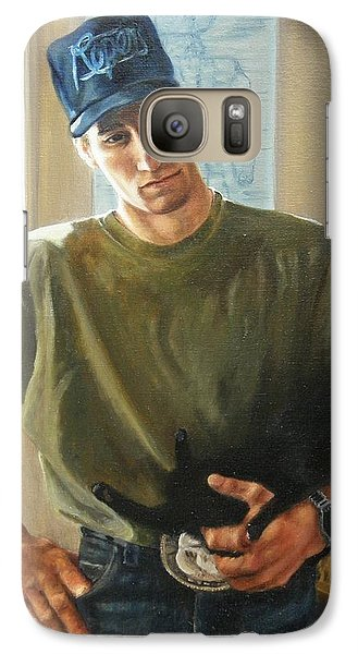 Galaxy Case featuring the painting David And Pulim by Lori Brackett