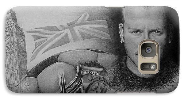 Galaxy Case featuring the drawing David Beckham by Geni Gorani