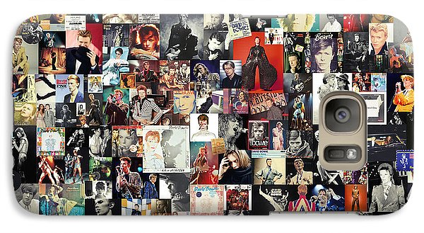 David Bowie Collage Galaxy Case by Taylan Apukovska
