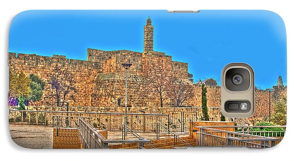 Galaxy Case featuring the photograph Davids Citadel - Israel by Doc Braham