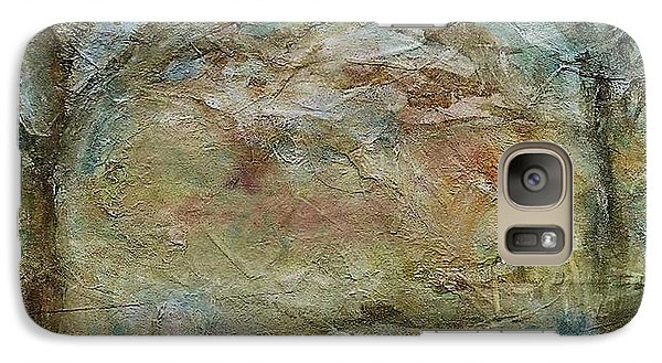 Galaxy Case featuring the painting Dawn 2 by Mary Wolf