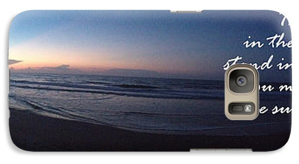 Galaxy Case featuring the photograph Dawn And Sunset Shout For Joy by Linda Mesibov