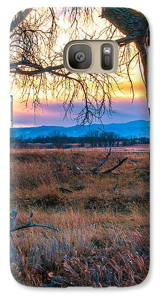 Galaxy Case featuring the photograph Setting Sun At Rocky Mountain Arsenal by Tom Potter