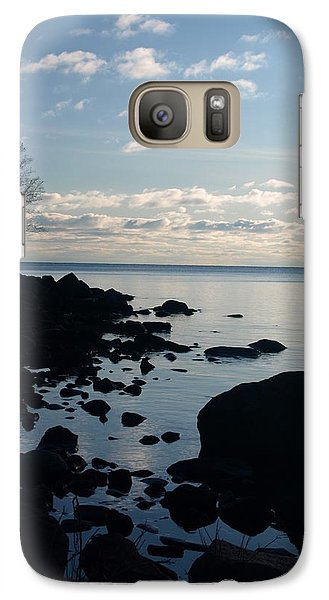 Galaxy Case featuring the photograph Dawn At The Cove by James Peterson