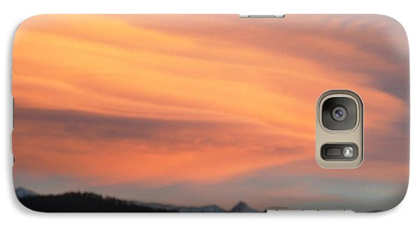 Galaxy Case featuring the photograph Dawn Glory Cloud Over El Valle by Anastasia Savage Ealy