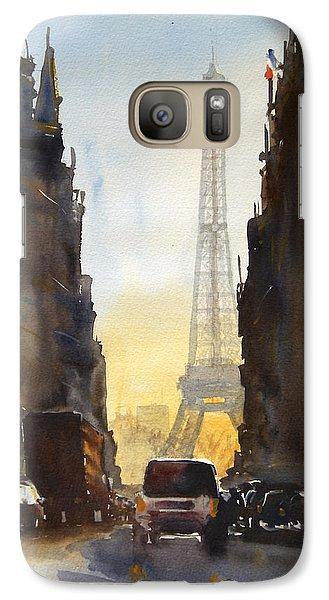 Eiffel Tower Galaxy S7 Case - Dawn In Paris by James Nyika