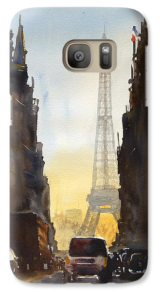 Dawn In Paris Galaxy Case by James Nyika