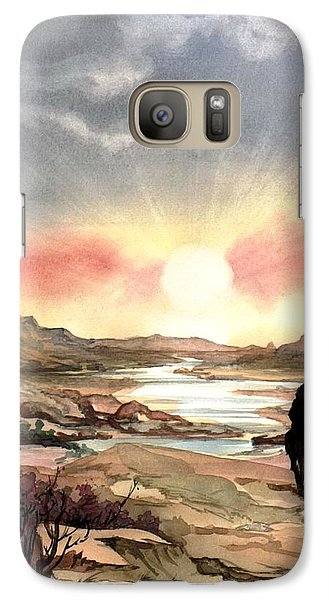 Galaxy Case featuring the painting Dawn In The Valley by Mikhail Savchenko
