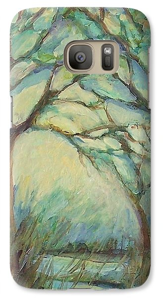 Galaxy Case featuring the painting Dawn by Mary Wolf