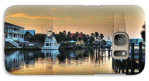 Galaxy Case featuring the photograph Dawn On A Orange Beach Canal by Michael Thomas
