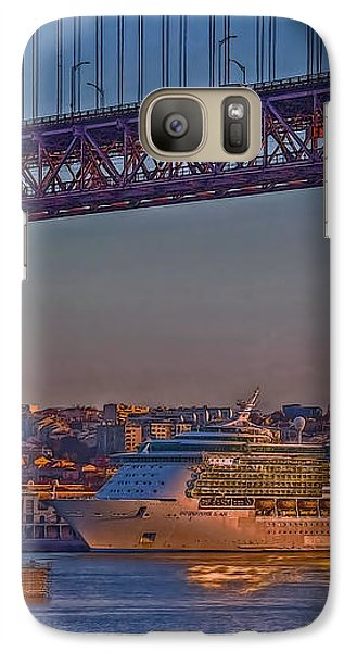 Galaxy Case featuring the photograph Dawn On The Harbor by Hanny Heim