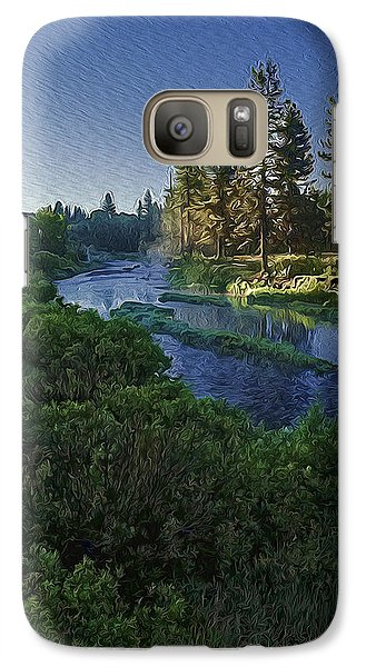 Galaxy Case featuring the photograph Dawn On The River by Nancy Marie Ricketts