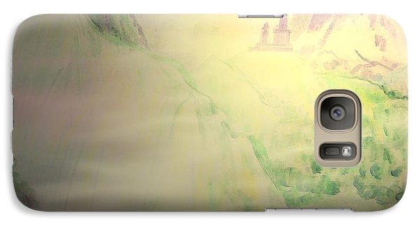 Galaxy Case featuring the painting Dawn Sketch Of Mount Kazbek Kazbegi Georgia by Anastasia Savage Ealy