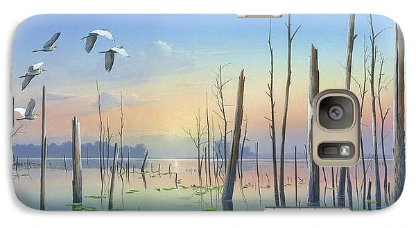 Galaxy Case featuring the painting Dawns Early Light by Mike Brown