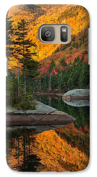 Galaxy Case featuring the photograph Dawns Foliage Reflection by Jeff Folger