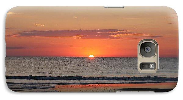Galaxy Case featuring the photograph Dawn's Orange Hues by Robert Banach