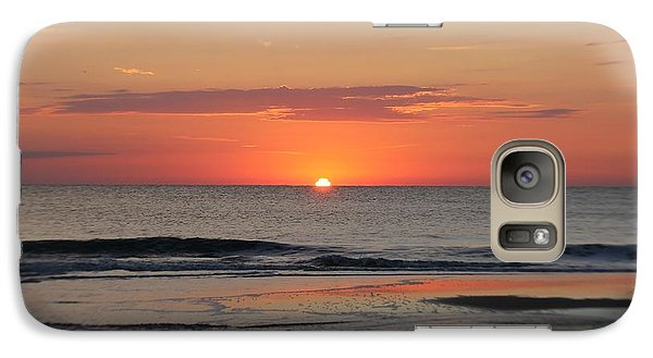 Galaxy Case featuring the photograph Dawn's Waves by Robert Banach