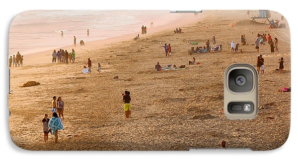 Galaxy Case featuring the photograph Day At The Beach - Sunset Huntington Beach California by Ram Vasudev