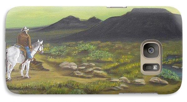 Galaxy Case featuring the painting Day Is Done by Sheri Keith