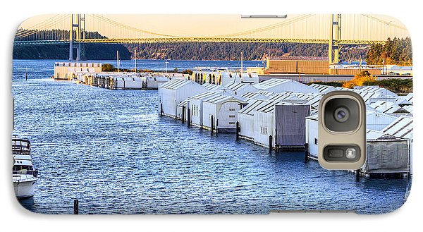 Galaxy Case featuring the photograph Day Island Marina And Narrows Bridges by Rob Green