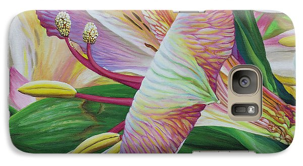 Galaxy Case featuring the painting Day Lilies by Jane Girardot