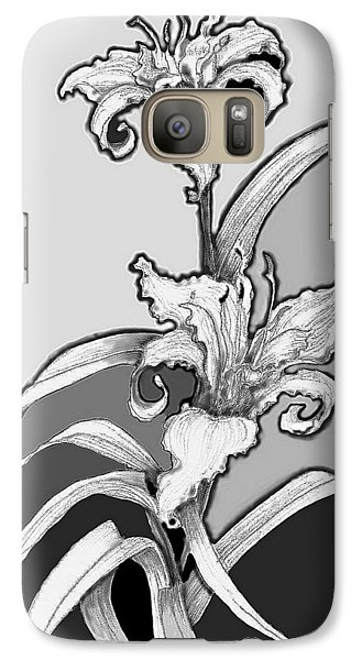 Galaxy Case featuring the digital art Day Lillies by Carol Jacobs