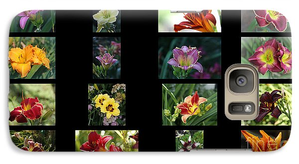 Galaxy Case featuring the photograph Day Lily Collage by Yumi Johnson