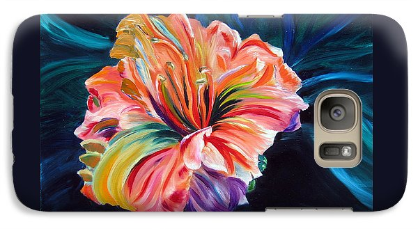 Galaxy Case featuring the painting Day Lily by LaVonne Hand