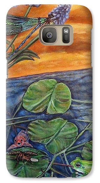Galaxy Case featuring the painting Day Of Judgment For A Pesky Mosquito by Kimberlee Baxter
