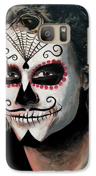 Day Of The Dead - Heath Ledger Galaxy S7 Case by Tom Carlton