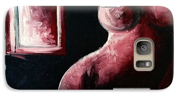 Galaxy Case featuring the drawing Day Off by Helen Syron