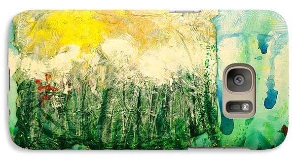 Galaxy Case featuring the painting Day Tripping by Ron Richard Baviello