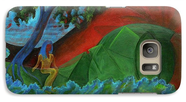 Galaxy Case featuring the painting Uncertain Journey by Elizabeth Fontaine-Barr