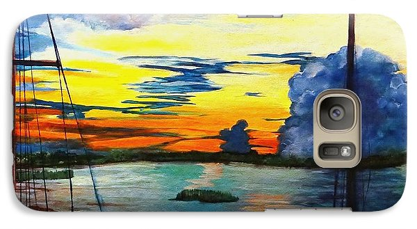 Galaxy Case featuring the painting Daybreak Over  Apalachicola River  by Ecinja Art Works