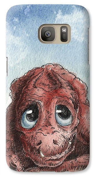 Galaxy Case featuring the painting Daydreamer by Sean Seal