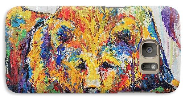 Galaxy Case featuring the painting Daydreaming Bear by Jennifer Godshalk