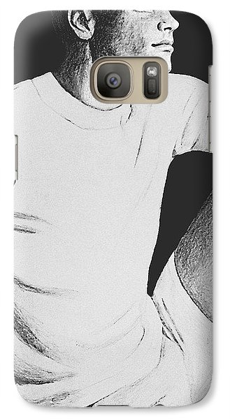 Galaxy Case featuring the drawing Daydreaming by Sophia Schmierer