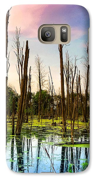 Galaxy Case featuring the photograph Daylight In The Swamp by Lars Lentz