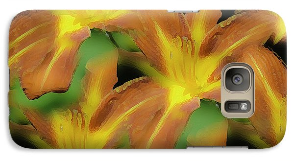 Galaxy Case featuring the photograph Daylily Magic by Sherri Meyer