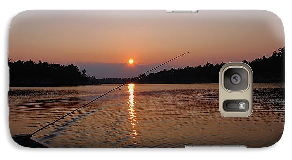 Galaxy Case featuring the photograph Sunset Fishing by Debbie Oppermann