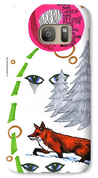 Galaxy Case featuring the drawing Days Inside Of Days by John Ashton Golden